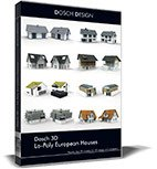 DOSCH 3D: Lo-Poly European Houses